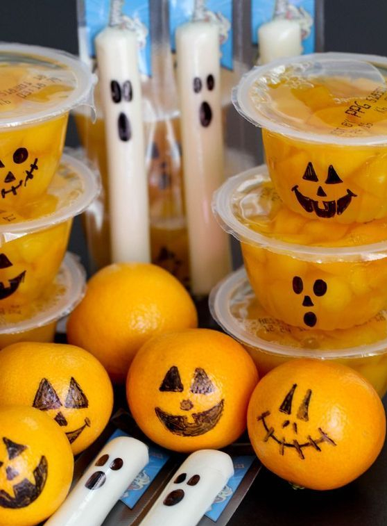 healthy pumpkins and ghosts